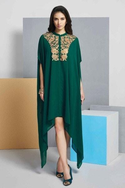 http://www.kalaniketan.com/indo-western-dresses/mesmerizing-embroidered-green-color-georgette-kurti.html #kurti #styling #indowestern #outfit #womensfashion