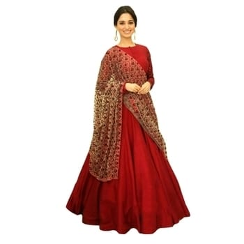 Do you love red ? Check #SHOPKIO latest #designer-wear #wedding-anarkali SUIT #crepesilk sequence #embroidered at 60% OFF. #Hurry.!!  #Shopnow :- http://bit.ly/2mk3SfN