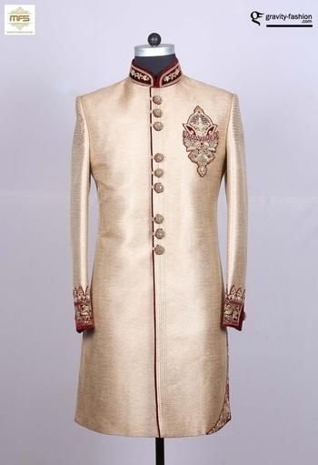 INDINA WEDDING #REACPTION WEAR #INDOWESTERN SHERVAANI IN #GOLD https://www.gravity-fashion.com/indina-wedding-reacption-wear-indowestern-shervaani-in-gold-b17223.html