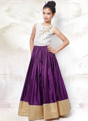 LATEST #KIDS #ETHNIC WEAR EMBROIDERED #GOWN FOR #WEDDING WEAR https://www.gravity-fashion.com/latest-kids-ethnic-wear-embroidered-gown-for-wedding-wear-b17242.html