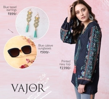 A complete stunner is this blue top with tassels... Opt for bold sunglasses and bright tassel blue earrings to beat the heat in style! http://bit.ly/2lCDZYt