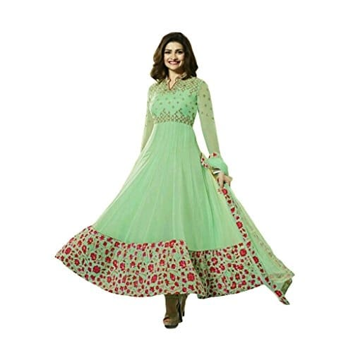 Fab Valley Designer Light Green Georgette #Anarkali #Suit @ Rs.1799. Buy Now at http://bit.ly/2lNSx9F