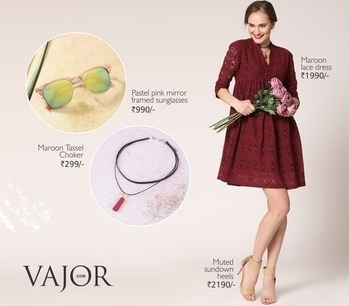 Be brunch ready in this lovely maroon lace dress and get ready to grab all the attention around you... http://bit.ly/2lqqCto #vajor #dress #maroondress #valentinesdress #lacedress
