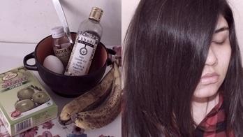 DIY Hair Mask | For Dry Damaged Hair | Hair Growth #hairmask #diy #diyhairmask #bananahairmask #haircare #castoroil #khadi