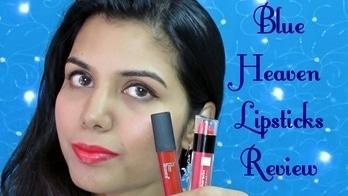 Blue Heaven Longwear & Non-Transfer Lipstick- Review   Brick Red & Raspberry   omnistyles