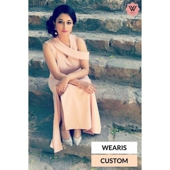 #WearisCustom One shoulder flap gown with slit. Get this gown customised in any colour. #absolutelyfabulous #trendsetter  #customised #silhouette_creative #weariscustom #pastel #collection #flapgown #stylechallenge #fashionblogger #styleblogger #getyours #customfit #styleinspiration #ootd #potd #wearis