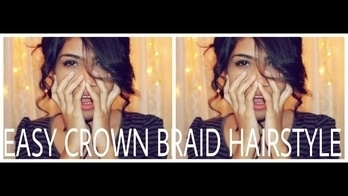 Easy Crown Braid Hairstyle || TheVanityGirl ❤