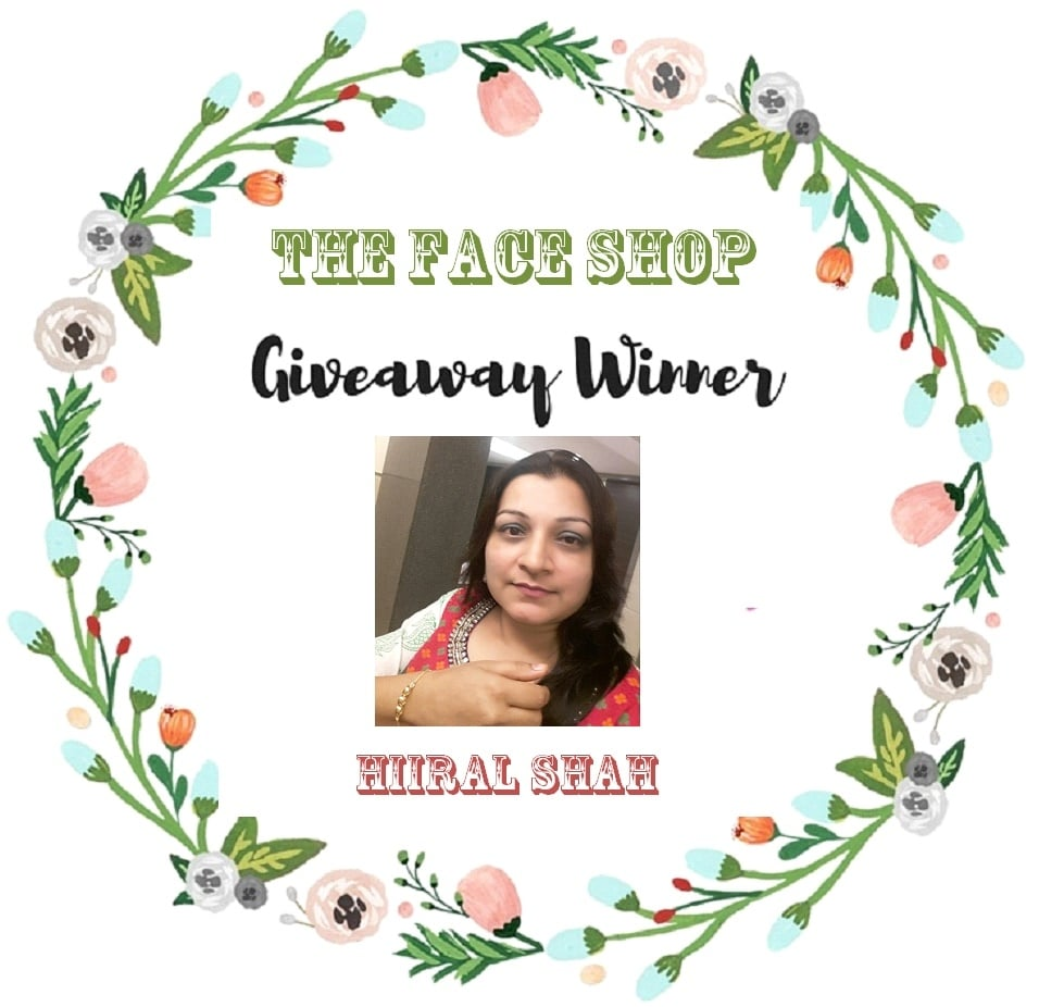 #thefaceshopindia  Congratulations @hiiral Shah!!! Stay Tunned for more Upcoming Giveaways....