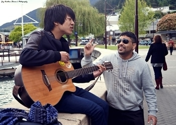 Music is an art that goes in the ears and reaches straight into your heart. Post:150 #musiclove  #sings  #newzealand  Location: Queenstown #guitarist