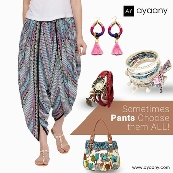 Style is a way to say who you are without having to speak. Buy fabulous Pants from Ayaany and let your style do the talking.  Shop @ www.ayaany.com  #india #indianblogger #fashionblogger #trendsetter #workingwomen #dress #personality #shoponline #forwomen #buyonline #onlineshopping #pants #pantsinstyle