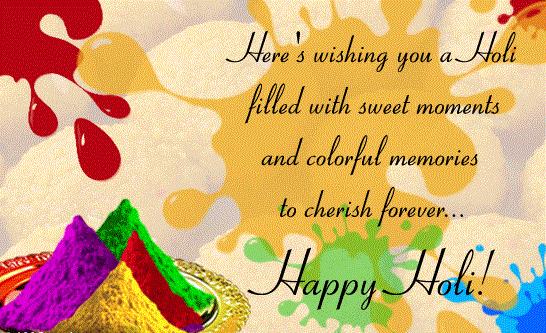 Pichkari ki Dhar, Gulal ki bauchar, Apno ka pyar, Yahi hai yaaron holi ka tyohar. Happy Holi!!!!