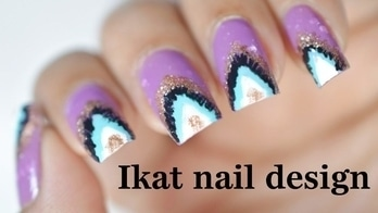 Ikat nail design | Easy ikat nail art tutorial💅💜❤ #nailart#nailartdesigns#nailartwow#nailartaddicts#nailartpromote#nailartblogger#nailartlove#nailartclub#nail colour and art#nailartideas#nailartist#nailartonmymind#nailartjunkie#nail art #nailartindia #nails#nails2inspire#nailfashion#nailaddict#naillover#nailoholic#nail-addict#nailswithrhinestones#nailswag#nailpolish#nailcolor
