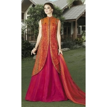 Do you want to shine like a celebrity Grab your favorite from our Latest Collection #PartyWear #JacketStyle #FrockSuits #Wedding #FreeShipping in #India  http://www.ishimaya.com/salwar-kameez/type/frock-suits/jacketstyle.html?utm_source=roposo&utm_medium=refferal&utm_campaign=smo