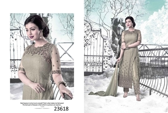FASHION TURNS HEADS.. STYLE TURNS SOULS...  Buy this extremely stylish grey salwar kameez at amazing price of Rs 2299/-  Fabric - Heavy Net, Santoon and Nazmeen  Get 15% OFF on our designer suits collection  Website - https://aasriethnics.com  Original Designs.  Coupon Code on Website - MVFEPR8KV0BU