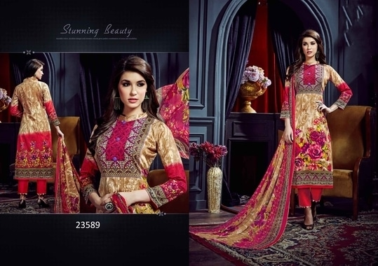 The salwar suit for every size.  This Lovely Pakistani Salwar Suits can be stitched from Small Size to 3XL Size  To check all designs simply visit https://aasriethnics.com  Unstitched Dress Price - 1149/- Stitched Dress Price - 1449/- Sizes - S, M, L, XL, XXL, XXL