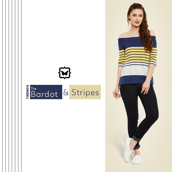 The Bardot & Stripes- This Flirty Striped Bardot Top Is Super Fun For A Casual Day Out!    Shop on http://bit.ly/2nLoP2S  #soroposo #onlineshopping #shopping #colour #shoppingtips #fashion #fashiontips #photooftheday #trendy #musthave #nowtrending #stylish #blogger #love #follow #fashionblogger #styleblogger #awesome #ootd #potd #ruffletop #summerstyle #summer #summer16.