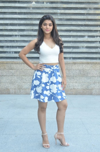 Telugu Actress Yamini Bhaskar in short skirt & white top photoshoot http://www.southindianactress.co.in/telugu-actress/yamini-bhaskar/yamini-bhaskar-stills-yupptv-originals-launch/ #yaminibhaskar #southindianactress #teluguactress #shortskirt #blueskirt #whitetop
