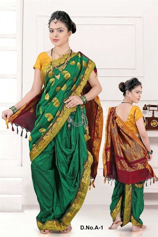 Gudi Padwa is Here!!  Have you shopped for your Nauvari yet??  Buy this lovely Stitched Nauvari Saree today and get 15% Flat Off  Fits upto 42 inches waist. Saree length - 45 inches  Cash on Delivery Available all over India.   Easy Returns and Refunds on All products.  Buy from Here - http://bit.ly/2nOUukd  To check all our products visit our wesbite - https://aasriethnics.com