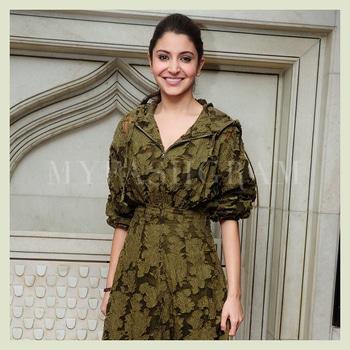 Anushka Sharma Hoodie Dress http://myfashgram.com/celebrity/only-anushka-sharma-couldve-made-a-hoodie-dress-look-so-damn-classy/