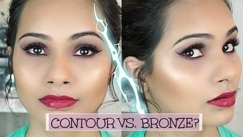 Contouring vs Bronzing Demo | DIFFERENT YET SIMILAR? | 🤔 #roposo #contour #bronze #makeuptutorial #beauty #beautycommunity #beautyexpert #howto