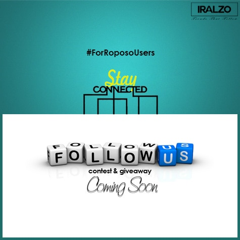 FOLLOW Us – Stay Tuned!  #Followus on all our #SocialMedia channels! Keep up with our blogs; posts, latest fashion trends and more giveaways are coming soon! Instagram- @iralzo  #giveawayalert  #contestalert #giveaways #contest #iralzo #staytuned #stayconnected #staywithus #joinus #followme #follow #follows #followback #follow4follow #followusnow #fashion #indianblogger #fashionblogger