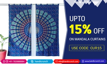 """Add a touch of #boho to your room with this gorgeous #mandala tapestry #curtains. Each order includes two pole top panels that are approximately 40"""" X 82"""" Inchs. Use coupon code <CUR15> & Save up to 15%. Free shipping in worldwide. Visit here for more huge collections @ https://m.handicrunch.com/ #homedecor #homeimprovments #mandalatapestry #indiantapestry #beachthrow #beachroundies #mandalacurtains #hippiecurtains #sale #handicrunch #discount #tapestries"""