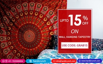 Mandala Tapestry Wall Hangings are the perfect decor accent. From traditional to contemporary wall tapestry designs, you can find them all at Handicrunch. Use coupon code <GRAB15> and Get 15% off. Shop here: https://goo.gl/RdCoFu #mandalatapestry #bohemiantapestry #walltapestry #wallhanging #wallart #handicrunch #onlineshopping #homedecor #homeimprovement #boho #sale #discount