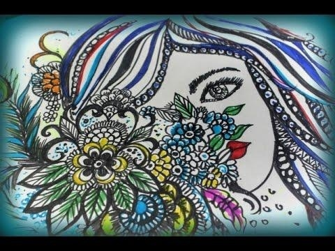 A Face In The Midst Of Nature - Doodling  Feel free to LIKE , SHARE , COMMENT & SUBSCRIBE to my Youtube channel . Channel link : https://www.youtube.com/channel/UCyNxgozVUEuMqgGYOcqjXww Thank you . Love  XOXO Anwesha Bhattacharyya