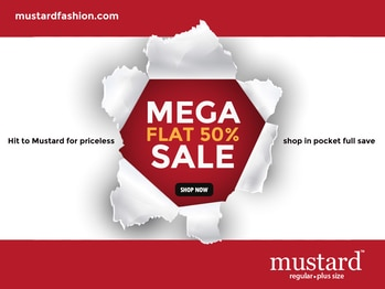 Explore finest pieces for your glam in #Mustard Mega #Sale. Shop Now: http://bit.ly/23Akoec
