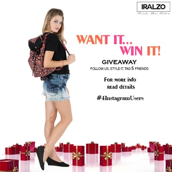 Instagram Giveaway Alert!  Get a chance to win this beautiful bag from Iralzo at Instagram. Rules for the Giveaway: 1. Follow Iralzo at Instagram. 2. Tell us how you would like to style this bag and tag 5 friends at Instagram. 3. Repost this picture using tag @iralzo with hash tag #Iralzogiveaway and #Iralzo. 4. Giveaway ends by 13th April 2017 and winner will be announced on 15th April 2017.  Giveaway entry is valid on instagram only*. Unfollowers after this contest will be terminated from my further giveaways. Good Luck! ✨   #contestalert #giveawayindia #contestindia #giveaway #giveawayalert #marchgiveaway #giveawaycontest #contestalertindia #indianfashion #indianfashionblogger #indianfashionstore #winnow
