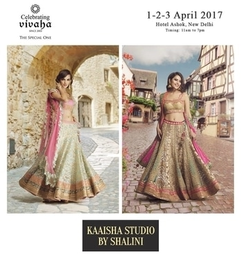 Catch The Latest #Jewellery and #Clothing Trends This #WeddingSeason.  Celebrating Vivaha is Showcasing Kaaisha by Shalini Latest Collection, Exclusively at Hotel The Ashok on 1st, 2nd & 3rd April 2017.  Come and see your favorite designers showcasing their latest collections exclusively at Celebrating Vivaha's Asia's biggest and most luxurious #WeddingExhibition in Delhi.  For Queries Visit at : www.vivahaexb.com/upcoming-wedding-exhibition-in-delhi or Contact: 09811923456  #CelebratingVivaha #KaaishabyShalini #Designer #Dresses #Fashion #Bridal #Exhibition #Expo #WeddingExpo #Events #WeddingDresses #DesignerDresses #TheAshok #PhotoofTheDay #IndianWedding #IndianFashion
