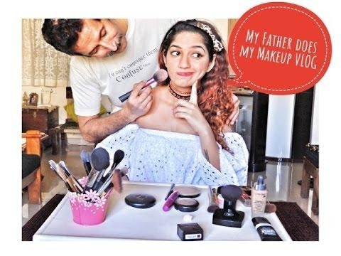 Father does my Makeup Challenge💄 VLOG| Father Tag  Get ur dad to do ur makeup! Would you? Would he? Just Watch the video and have fun :D