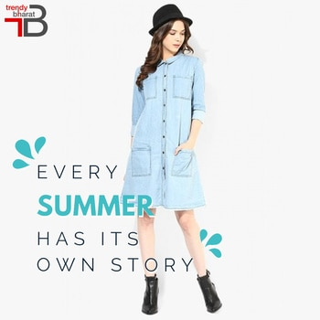 Step into #summer comfortably with on-trend chic classic collared shirt dress!!  Get here:https://goo.gl/Rw1WqU   #SummerBash #Summershades #mystylemantra #look #fashionista #women-fashion  #summerstyle