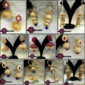#Runway #Fashion- #Wholesale #Indian #Jewellery presents all new #Jhumki #Earrings Collection For Full Catalogs, designs and price kindly #Whatsapp us at +91-9988339521 Stay Tuned for more collections #IndianFashion #BestPrice #BestJewellery #BridalJewellery #AllThingsBridal #AwesomeDesigns #Customization #IndianWeddings #OnlinePurchase #desibeautyblog #indianjewels #indianfashion #indianjewelry #Wholesale #Wholesalers #Reselling #Resellers #EthnicDesigns #GoldPlated #Jewelry #ImitationJewelry