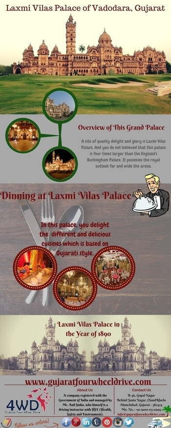A #site of #quality delight and #glory is #LaxmiVilasPalace. And you will be #surprise after you know that this palace is four times larger than the #England's #BuckinghamPalace. To get incredible knowledge about this palace, then please visit- goo.gl/lxmYxb