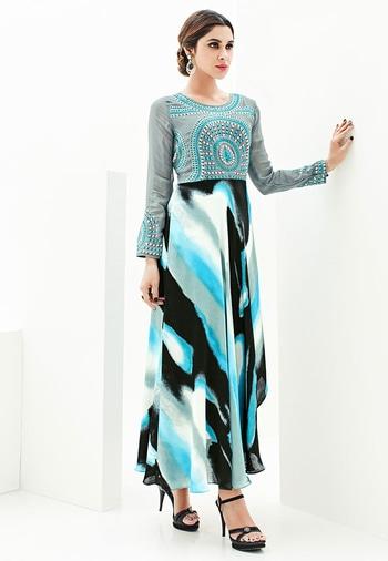 Multicolor Japan Satin With Georgette Koti Designer Kurti - https://goo.gl/92Ny4w  https://www.folkfashions.com/salwar-kameez-dress-material/kurtis-online.html  #myfavoutfit #fashionista #fashionblog #fashiondiaries #mystylemantra #look #women-fashion #trendy #designer #onlineshopping #casual #style #style #shopping #springsummer #kurti  #kurtilove #kurtisforwomen #kurtistyles #kurtishopping #kurtisonline #kurtisonlineshopping #kurtisale #kurtisale #kurti_tunics #kurtifabric