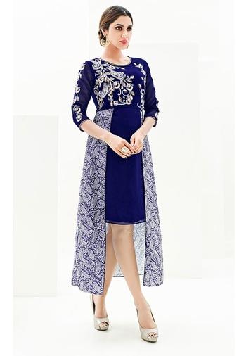 Dark Blue Color Japan Satin With Georgette Koti Designer Kurti - https://goo.gl/92Ny4w  https://www.folkfashions.com/salwar-kameez-dress-material/kurtis-online.html  #myfavoutfit #fashionista #fashionblog #fashiondiaries #mystylemantra #look #women-fashion #trendy #designer #onlineshopping #casual #style #style #shopping #springsummer #kurti  #kurtilove #kurtisforwomen #kurtistyles #kurtishopping #kurtisonline #kurtisonlineshopping #kurtisale #kurtisale #kurti_tunics #kurtifabric