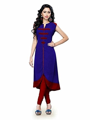Shiroya Brothers Women Blue #Anarkali Stitched Cotton #Kurti #Kurta @ Rs.379. Buy Now at http://bit.ly/2pqcwL6