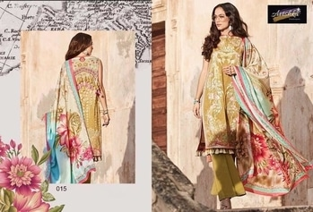 JOHARAA - DRESS MATERIALS  ₹ 5490.00 (in stocks)   ₹ 610.00 ( per piece ) 9 PIECES IN CATALOGUE  LAWN COTTON PRINT AND EMBROIDERY PATCH TOP WITH LAWN COTTON PRINTED BOTTOM AND CHIFFON PRINTED DUPATTA Fabric :  LAWN COTTON PRINTED.  #wholesaleexport #sareesonline  #indiandress #suit #sareesonline #wholesalebazar #kurtistyles.