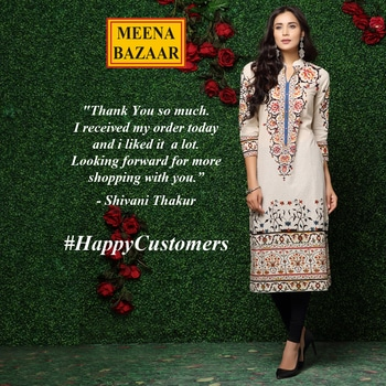 #Testimonial Thank you #ShivaniThakur you made our day more beautiful. We are happy to give you our best. :) #Happycustomers #Shoppingtime #Shoppingaddict #MeenaBazaar #officialwear #officialkurti #indianwear #ethnicwear #ethnicday #occasionwear #designer #designerwear #partywear #delhi #FashionDairies #2017fashiontrends #Stylish #lookbook #fashionblogger #fashionweek #indianfashionblogger #hautecouture #style #inspiration #fashioninspiration