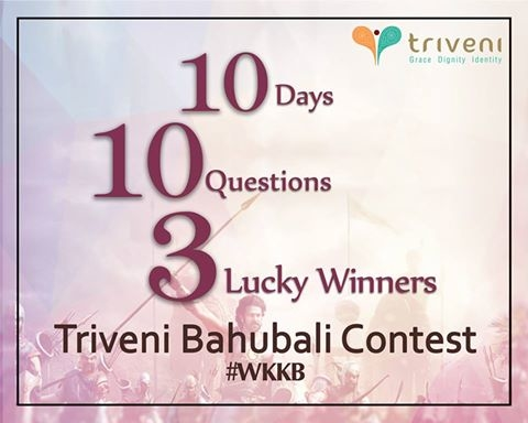 This year's biggest mystery, soon to be revealed! #CONTESTALERT: Rise and smile because we are back with a contest. Answer simple questions and stand a chance to win Art Silk Sarees from Triveni! #WKKB #TriveniandYou  #staytune to www.triveniethnics.com