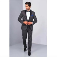 http://flyrobe.com It's time to look the most charming version of yourself with this sharp black shawl collar tuxedo, boys! Receptions or cocktail parties, you'd set the standards very high with this one. #Flyrobe #SuaveMenRent #Tuxedo #DateYourFashion