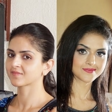 Hello, Pics from my makeup mater class 🙌😀 Taught everything from understanding skin, facial features, prepping the skin, ️products knowledge, tools, full face makeup, how to make hooded & downturn eyes appear defined & bigger, and a lot many tricks & hacks.  We demonstrated two makeup looks .. A nude day time look & a glamorous evening look.  Thank you to all for coming & a special thanks to my lovely  model ❤️❤️🙏 #makeup #makeupworkshop #makeupmasterclass #makeupartist #delhiNCRmakeupartist #makeuptrends #roposoinfluencer