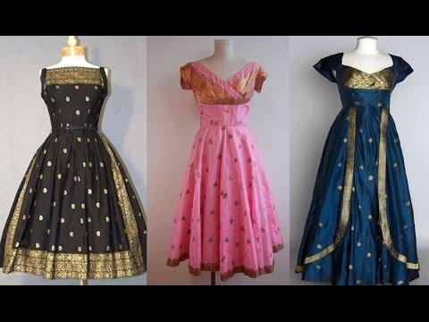 Convert your old saree into a beautiful saree gown styles #DIY #Idea #FashionCrab