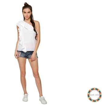 Get frilly! --------------- Up your fashion game with our Ashley One Shoulder White Top with frill details at front. Make your summers white and bright.🌞 #trendalert #seasontrends #summers #summervibes #whites #frills #oneshoulder #ootd #getgoingnow ##shopnow #fashionblogger #blogger #newcollection #marzeni #marzeniisme  Visit now: https://goo.gl/3WhQke Get exclusive discounts.