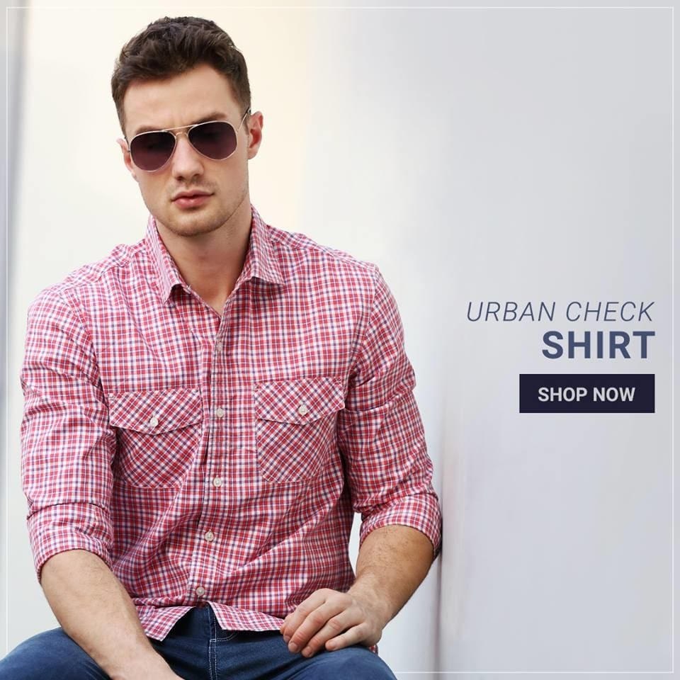 Give your office wardrobe a casual appeal in this lightweight summer check shirt for men.  Shop this style @ https://goo.gl/o8j9LU  #fashion #shopping #shirts #menswear #newarrivals