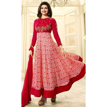 Change your look and style with attractive #Embroidered #StraightSuits  Shop now-->  http://www.ishimaya.com/salwar-kameez/red_1.html?utm_source=roposo&utm_medium=refferal&utm_campaign=smo