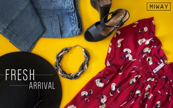 Our new collection is out now , make sure to grab some of our new merchandise 👌 A beautiful floral printed top from our collection paired with bell-bottoms , wedge heels , a beautiful neck-piece and a vintage hat to beat the heat 👒 #getthelook #onlineshopping #miway