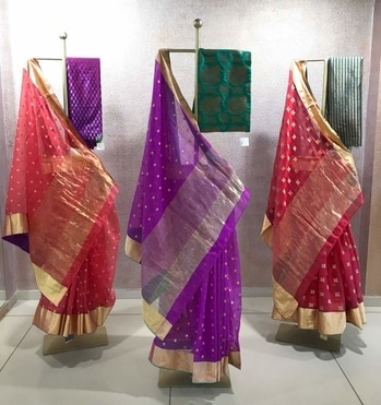 Don't miss at Deval The Multi Designer Store Timeless Classic Limited Edition hand woven with gold Chanderi sarees by LFW designer Shailesh Singhania in Summer Festive colors for upcoming Summer Weddings !! For more details please call us +91 98984 22000 #stylish #designerwear #designercollection #garments #clothing #womenswear #multidesignerstore #menswear #designeraccessories #dresses #skds #kurtas #devalstore #ahmedabad #newcollection #latestcollection #summerbliss2017 #colorfulcollection #devalthemultidesignerstore