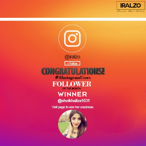Instagram - Follower Of The Month Result Alert!  Hey pretty girl … Iralzo wishes a hearty congratulation to Sheikh Aliza (@sheikhaliza1031) for becoming Iralzo #followerofthemonth contest winner! Please dm us you're complete address & contact details for us to courier the gift hamper to you.  #winners #iralzowinner #contestwinner #contest #congrats #iralzo #clothingbrand #winning #india #resultalert #giveawayindia #contestindia #aprilgiveaway #contestalertindia #indianfashion #indianfashionblogger #indianfashionstore